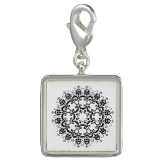 Floral Silhouette Charm