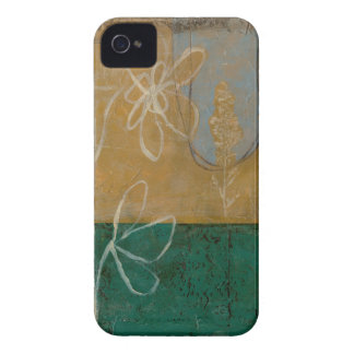 Floral Sketch with Wildflower and Plants iPhone 4 Case