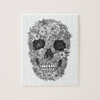 Floral Skull Jigsaw Puzzle
