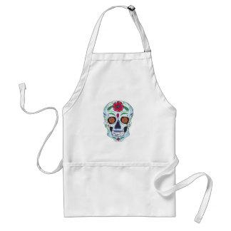 Floral Skull Standard Apron