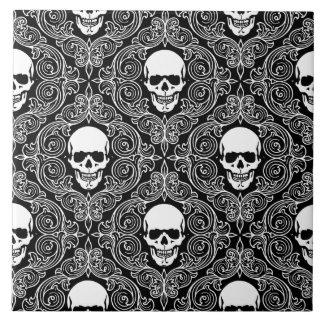 Floral Skull Tile