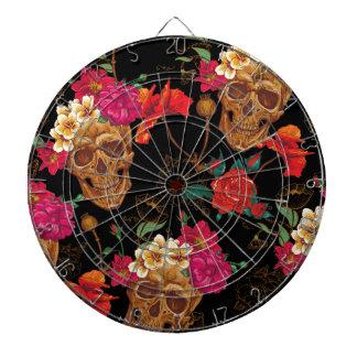 floral Skulls Dartboard
