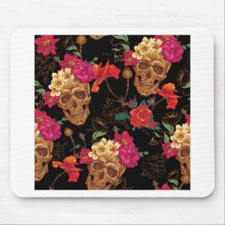 floral Skulls Mouse Pad