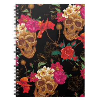 floral Skulls Notebooks
