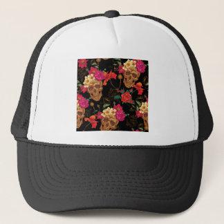 floral Skulls Trucker Hat
