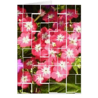 Floral Smiles FlOWERS sparkles pink Card