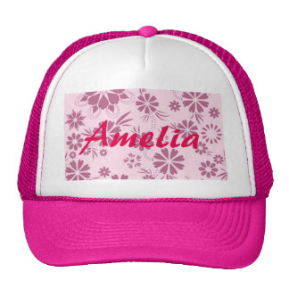 Floral, soft, girly, chic, pink, trendy, pattern, trucker hat