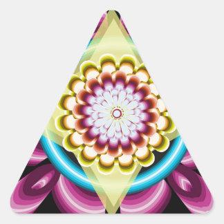 Floral spins triangle sticker