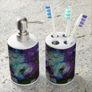 Floral Splash Toothbrush & Dispenser Set