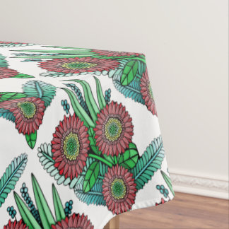 Floral Spray Color Design Tablecloth