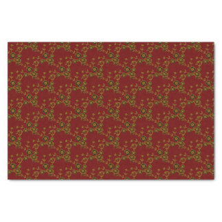 Floral Spray Style 1, Red-Gold-TISSUE WRAP PAPER