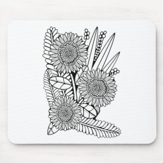 Floral Spray Two Mouse Pad