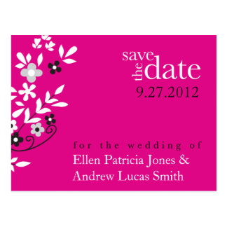 Floral Spread - Save The Date Postcard