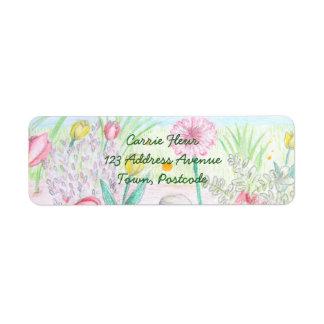 Floral Spring Garden Return Address Label