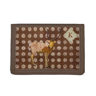 Floral Stag Monogram Wallet