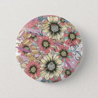 Floral Standard, 2¼ Inch Round Button