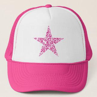 floral star trucker hat