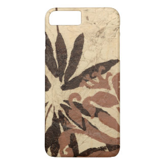 Floral Stencil Design with Tawny Leaves iPhone 7 Plus Case