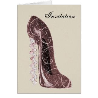 Floral Stiletto Shoe Art Card