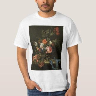 Floral Still Life Flowers in Vase, Vintage Baroque Tshirts