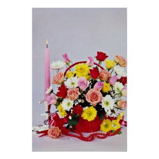 Floral still life  flowers poster