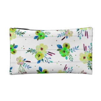 Floral Stripe Toss Makeup Bag