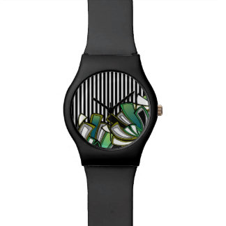 'Floral Stripe' watch