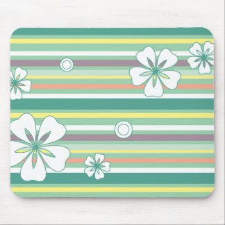 floral stripes_4 mouse pad