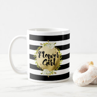 Floral & Stripes Flower Girl Coffee Mug