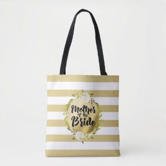 Floral & Stripes Mother of the Bride | Tote