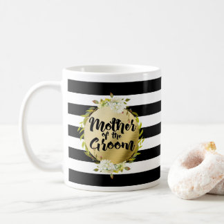 Floral & Stripes Mother of the Groom Coffee Mug