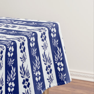 Floral stripes pattern tablecloth