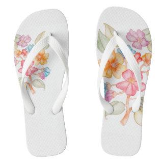 Floral-style Flip Flops