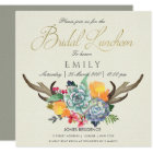 FLORAL SUCCULENT ANTLER BOHEMIAN BRIDAL LUNCHEON CARD