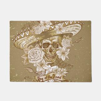 Floral Sugar Skull Doormat