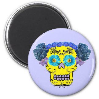 Floral Sugar Skull Magnet
