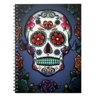 Floral Sugar Skull Notebook