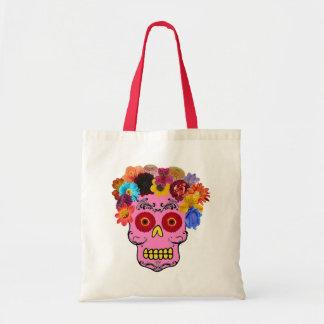Floral Sugar Skull Tote Bag