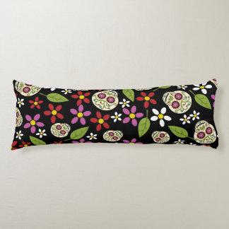 Floral Sugar Skulls Body Pillow