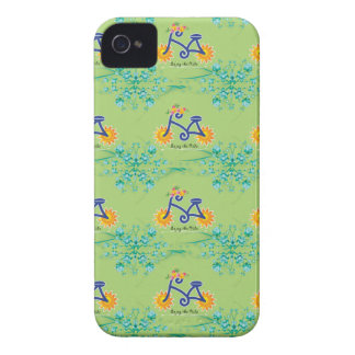 Floral Summer Bicycle Pattern iPhone 4 Cover