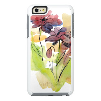 Floral summer design with hand-painted abstract 2 OtterBox iPhone 6/6s plus case