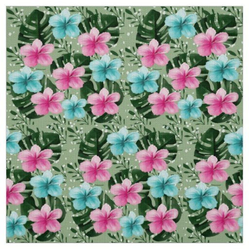 floral summer fabric