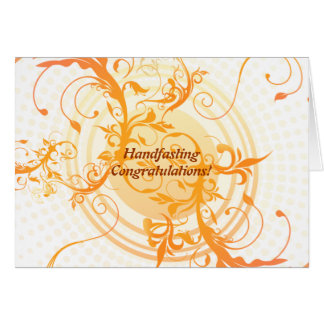 Floral Sun Pagan Wedding Congratulations Card