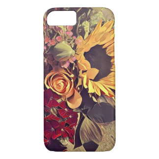 Floral sunflower and rose iPhone 7 case