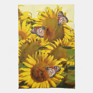 Floral Sunflower Flowers Butterfly Kitchen Towels