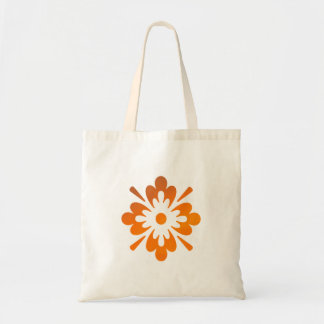 Floral Sunset Orange Sky Abstract Tote Bag