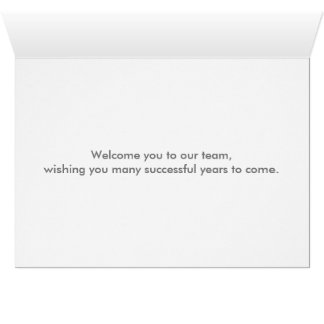 Floral Swirl Decorative Boarder with Welcome Card