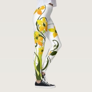 floral swirl leggings