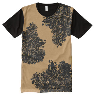 Floral swirl modern trendy guy's fashion tee