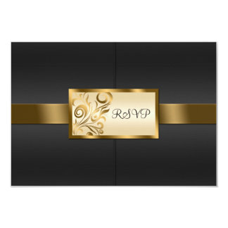 Floral Swirls Wedding RSVP Card